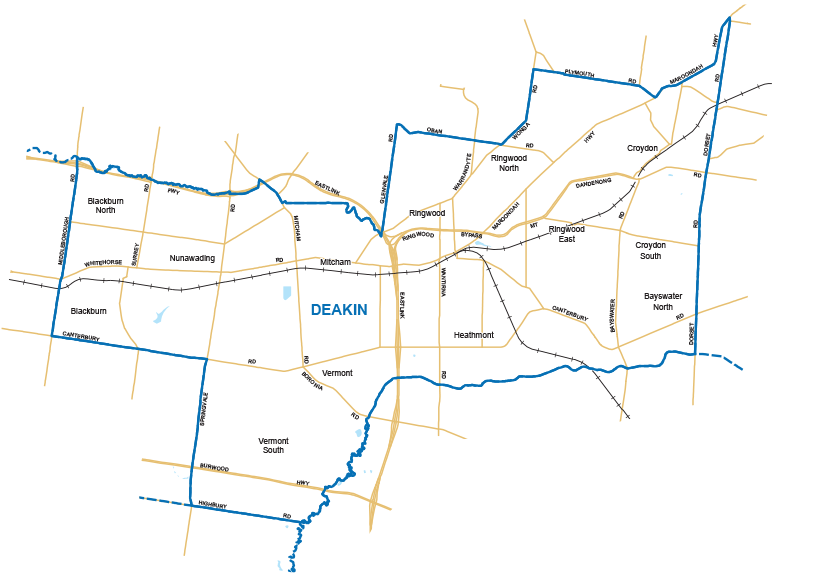 Deakin Map