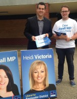Michael campaigning during the Victorian State Election 2014