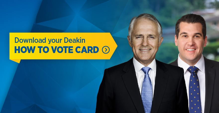 How to Vote for Michael Sukkar MP