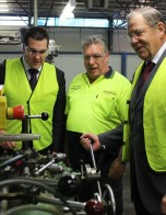 Visiting Burn Brite with Bob Baldwin MP, Parliamentary Secretary to the Minister for Industry