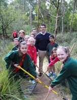 Photo: Michael with students from Antonio Park PS on the 20th anniversary of National Tree Day